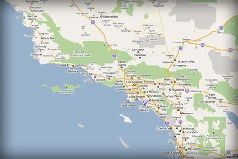 map southern california maps southern california california map