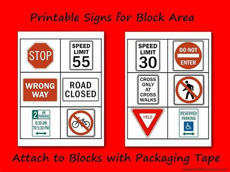 printable interest area signs 187 printable safety signs for block area nuttin but