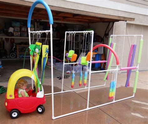 kid play car pvc pipe projects your kids will love little fingers