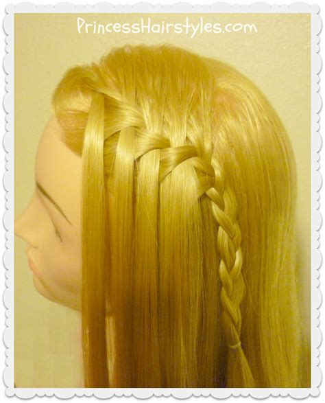 waterfall hairstyle step by step waterfall braid maker tutorial review hairstyles for