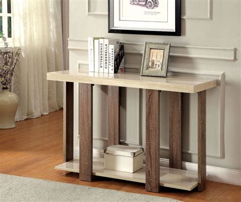 light oak sofa table lakoti ii light oak sofa table from furniture of america