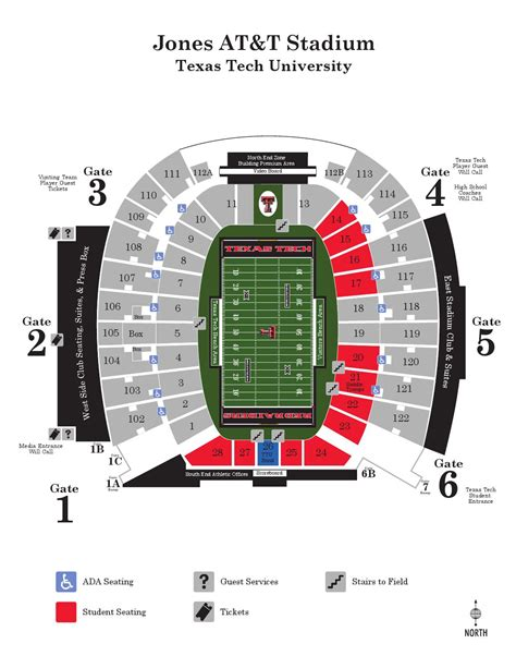texas tech stadium map issuu 2014 gameday stadium map by texas tech athletics