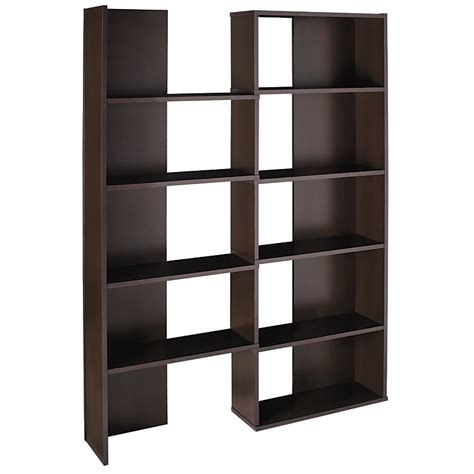 realspace cove springs expanding 5 shelf bookcase