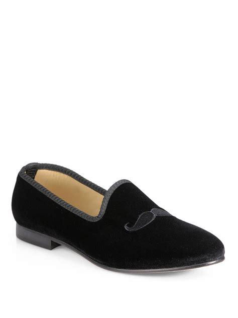 toro slippers mens toro mustache slippers in black for lyst