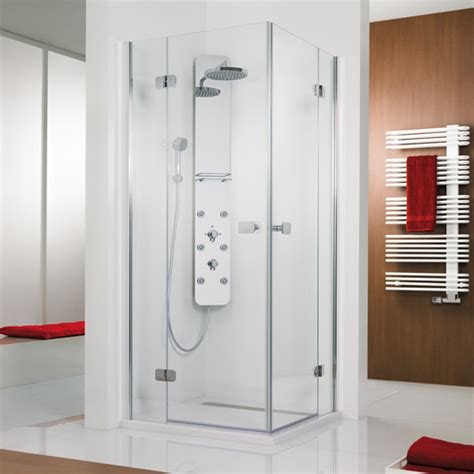 Hsk Shower Doors Hsk Premium Softcube Two Way Hinged Door Corner Entry Clear Light Shield Chrome 68204014 41