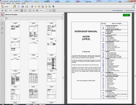 Isuzu Axiom 2002 Service Manual