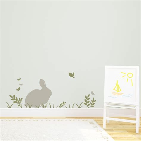 rabbit wall stickers bunny adventure wall decal