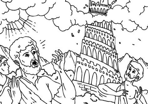 tower of babel coloring page tower of babel coloring page chuckbutt