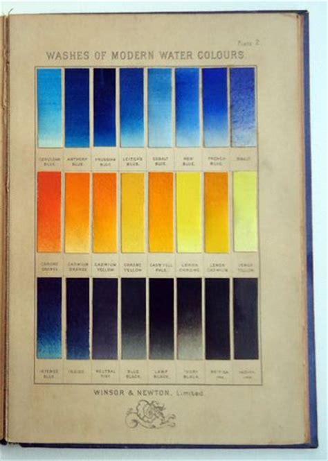 page from antique winsor newton watercolor sle book supplies