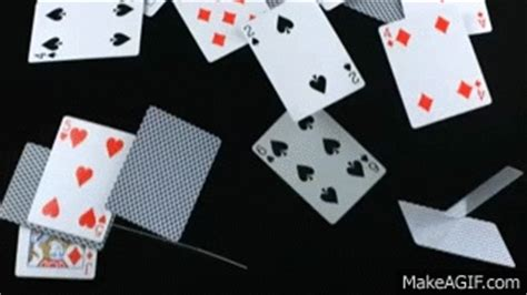 new year 2015 greetings gif cards falling in motion as pack decks