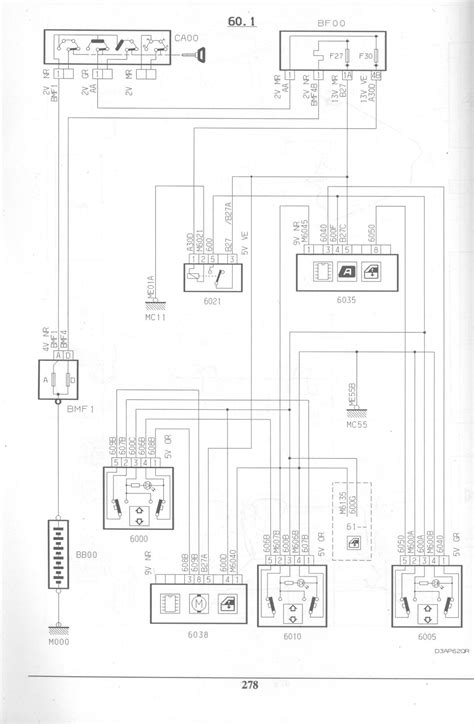 peugeot 406 electric window wiring diagram peugeot