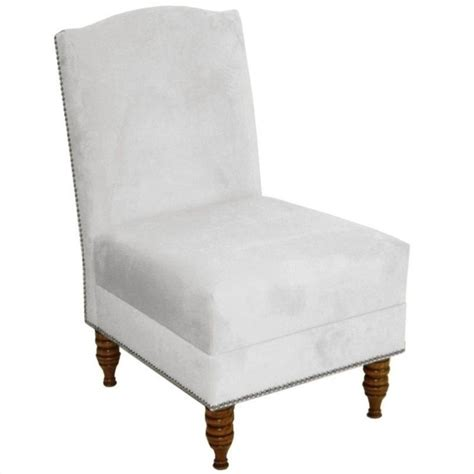 White Slipper Chair by Skyline Furniture Upholstered Slipper Chair In White 31