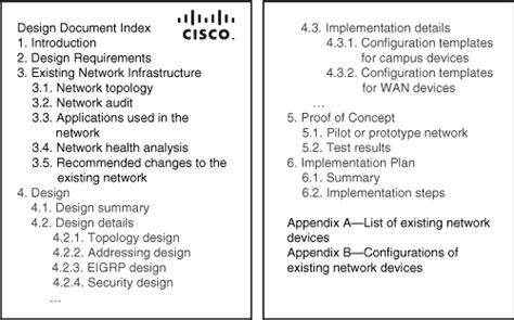 Cisco Ebook Chapter 2 Applying A Methodology To Network Design Part02 Network Design Document Template