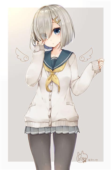 Id 0226 Anime Gray Cardigan Sweater hamakaze kantai collection 2044676 zerochan