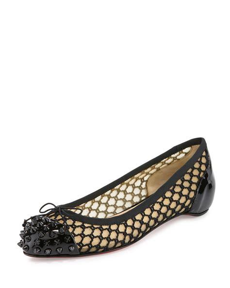 Christian Stud Balerina Shoes christian louboutin stud embellished flats cheap knock