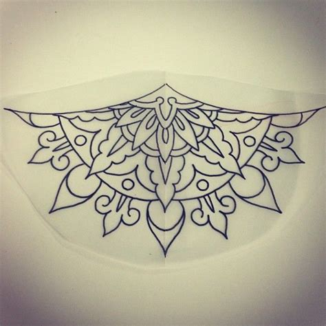 under breast tattoo designs 17 best ideas about mandala sternum on