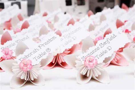 segnaposto fiori 5 originali segnaposto a forma di fiore per il matrimonio