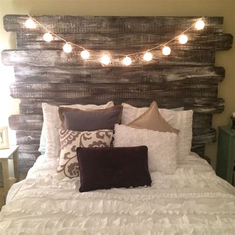 6 diy western headboard alternatives whitewashed rustic headboard made from fenceposts better