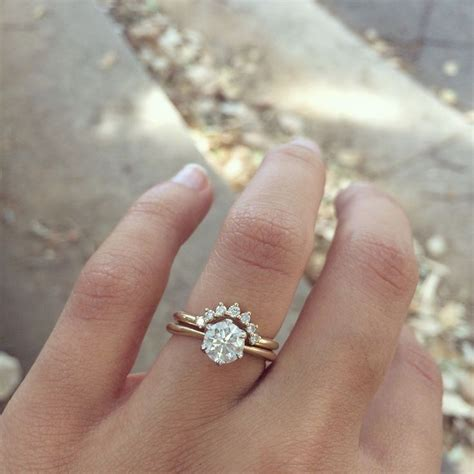 Wedding Solitaire Rings by Curved Band With Solitaire Engagement Ring Wedding