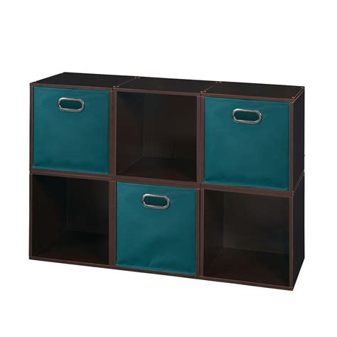 Chandeliers Under 50 Cubo Storage Set 6 Cubes And 3 Canvas Bins Truffle Teal
