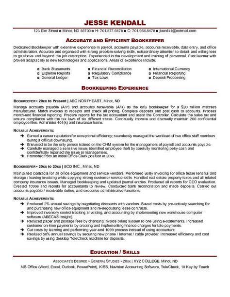 full charge bookkeeper resume sle bookkeeper resume exle http resumesdesign com