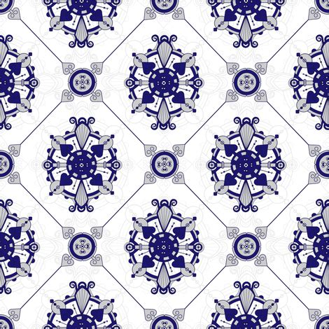 blue pattern royal elegant royal blue grey medallion pattern fabric