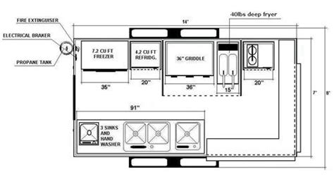 interior design layout sle sle drawing of a mobile kitchen food truck start with