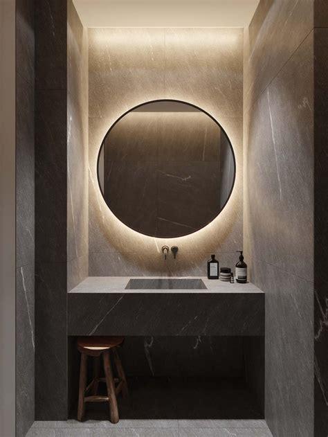 circular mirror ring light b a t h r o o m