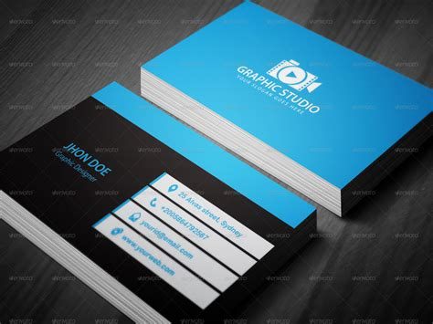 Business Card Template Preview by 3 Colors Corporate Business Card Template By Kazierfan