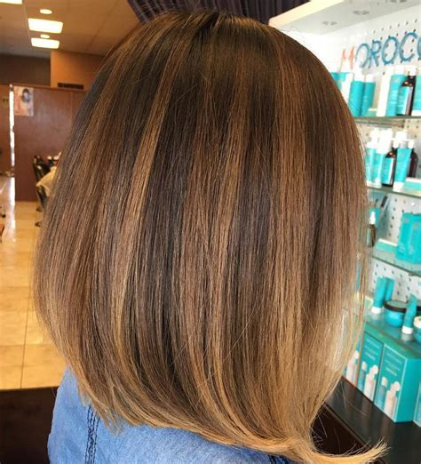 black bob with brown highlights 60 hairstyles featuring dark brown hair with highlights