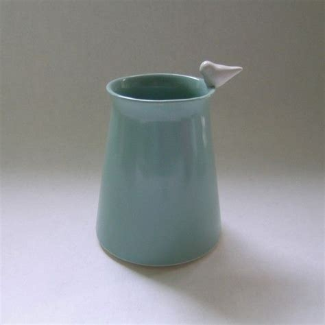 Duck Egg Blue Vase by Bird Ceramic Vase