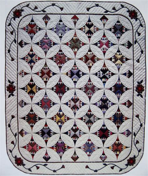 Patchwork Applique - circles vintage quilt pattern patchwork applique ebay