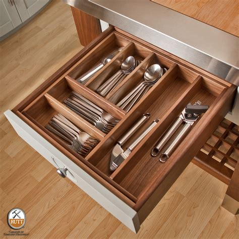 Kitchen Drawer Organization by Utensil Organization Walnut Drawer Modern Kitchen