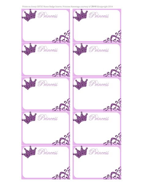 printable label princess labels free printable kids pinterest
