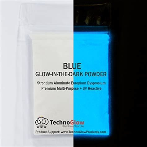glow in the powder into paint blue glow in the uv powder waterproof