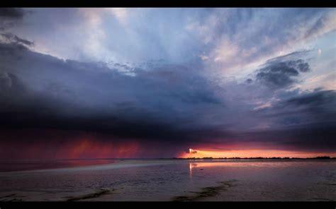 hd magnificent sunset  storm clouds wallpaper