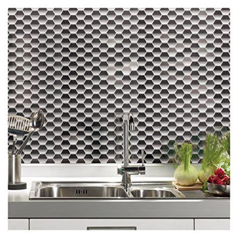 kitchen backsplash wall tile artd peel stick hexagon design  sheets   ebay