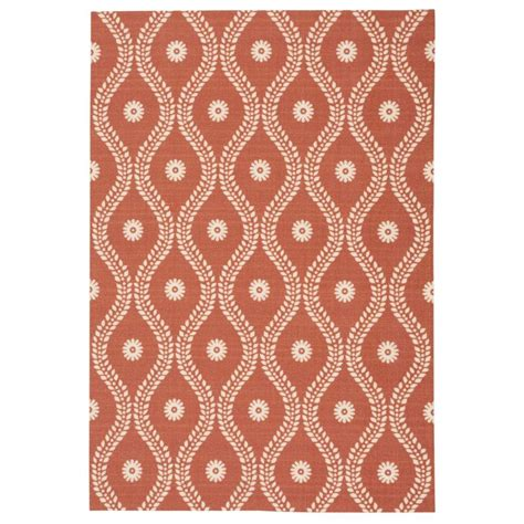 Overstock Outdoor Rugs Nourison Overstock Corfu Rust 4 Ft 3 In X 6 Ft 3 In Indoor Outdoor Area Rug 207470 The