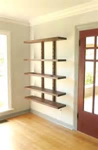 Large Wall Bookshelves Thru Block Wall Mounted Modular Shelving System Large 4 Foot