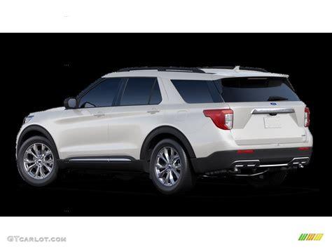 star white metallic tri coat ford explorer xlt wd