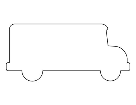 bus pattern use the printable outline for crafts
