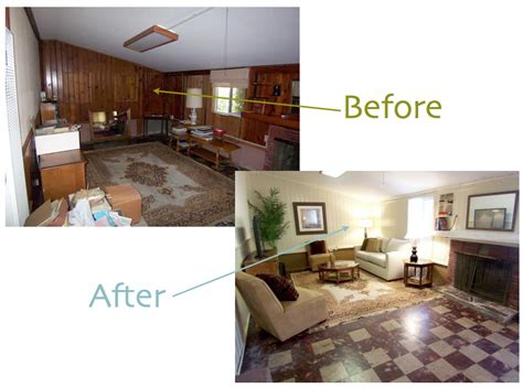 wood paneling makeover before and after painted wood paneling before after b b