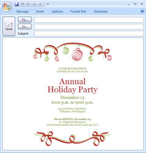 Holiday party invitation ornaments design free printable invitations