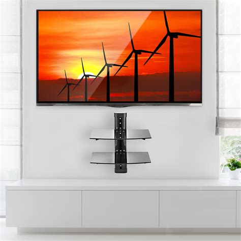 Wall Shelf For Tv Components by 2 Shelf Floating Wall Mount Dvd Tv Component Av Console