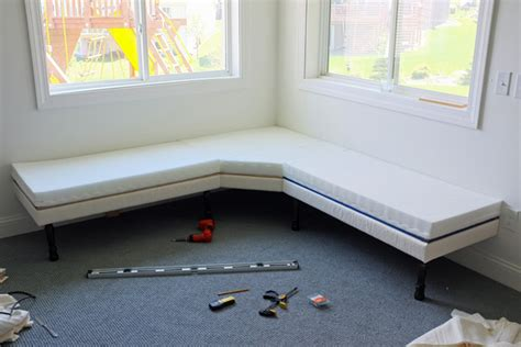 built in corner bench seating diy upholstered built in bench part 1 school of