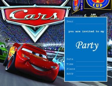 birthday invitation card template cars 33 free diy printable invitations for