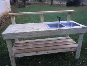 outdoor kitchen sinks ideas 11 interesting garden work bench with sink photos idea