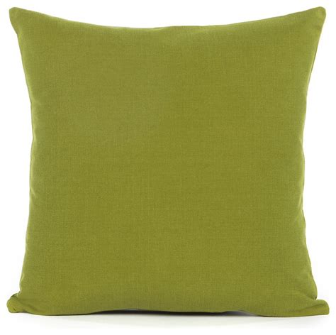 solid olive green accent throw pillow cover