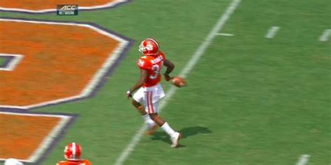 football player shoes clemson s mccloud pulls a desean jackson and
