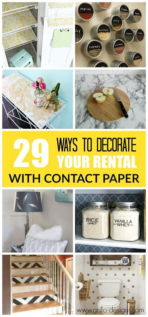 29 Ways To Decorate Your Rental With Contact Paper | best 25 contact paper ideas on pinterest contact paper